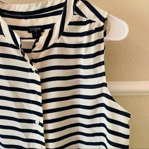 JCrew sleeveless button down top